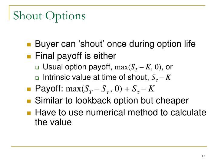 Shout Options