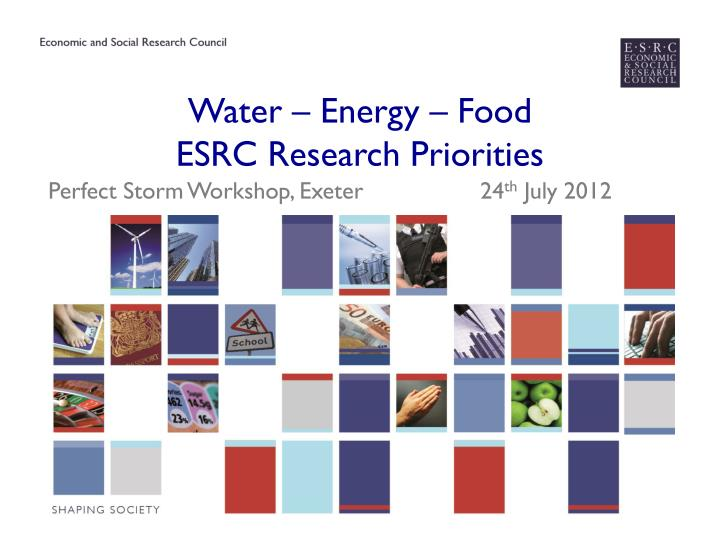 water energy food esrc research priorities n.
