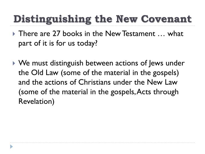 Distinguishing the New Covenant