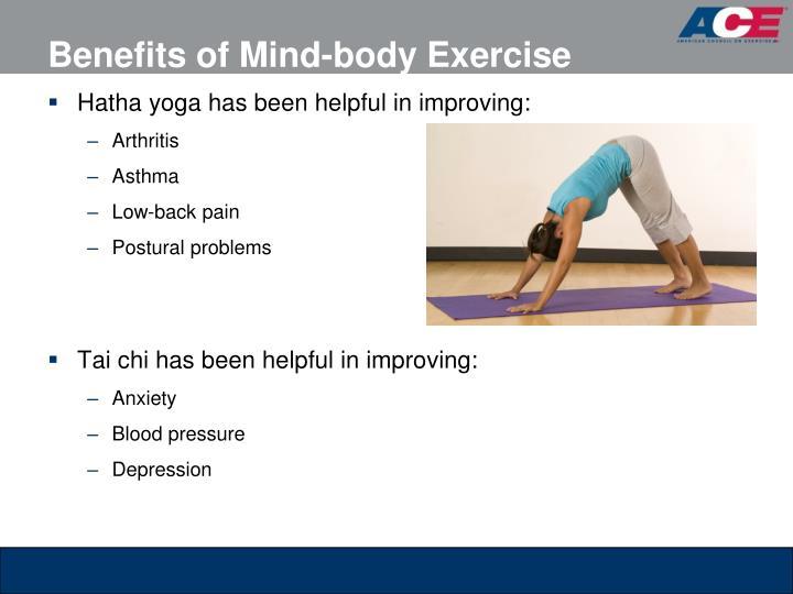 Benefits of Mind-body Exercise
