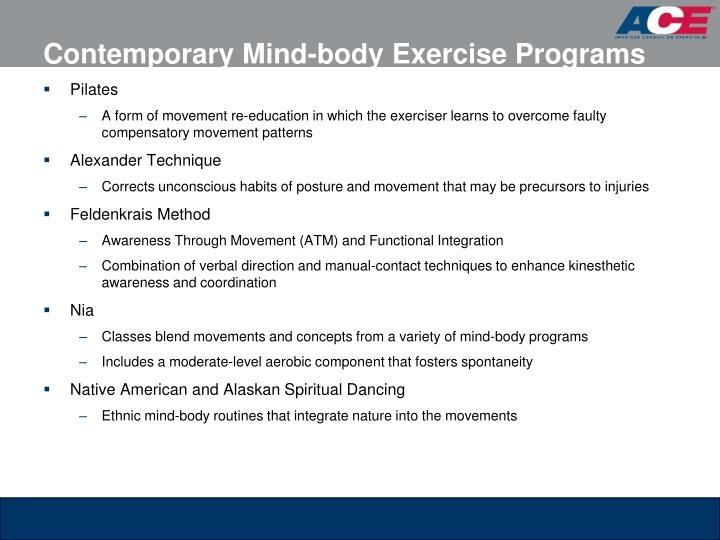Contemporary Mind-body Exercise Programs