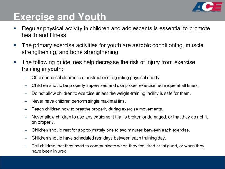 Exercise and Youth