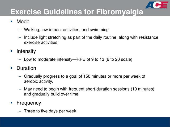 Exercise Guidelines for Fibromyalgia