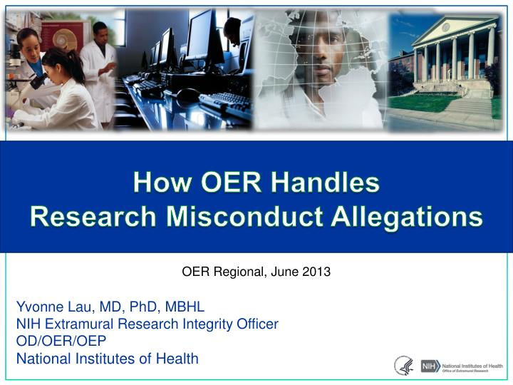 how oer handles research misconduct allegations n.