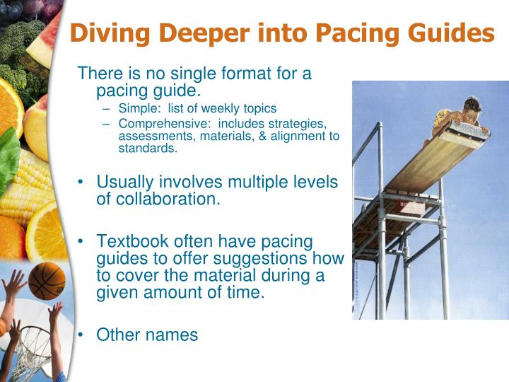 Diving Deeper into Pacing Guides