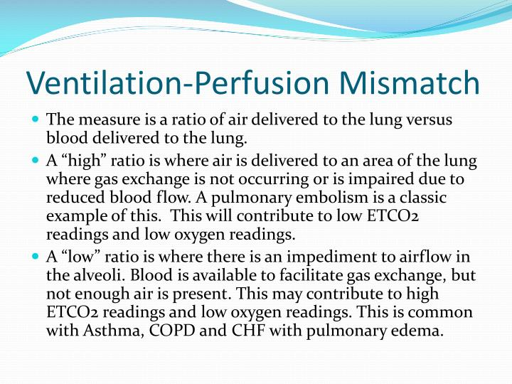 Ventilation Perfusion Ratio : Ppt end tidal co and capnography in ems powerpoint