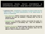 substantive rules policy statements interpretive rules how are they different