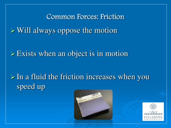 Common Forces: Friction