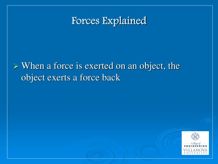 Forces explained