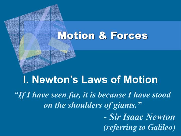 motion forces n.