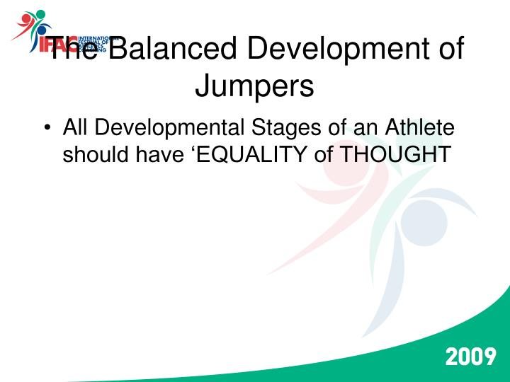 the balanced development of jumpers n.