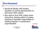 fire personnel