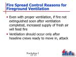 fire spread control reasons for fireground ventilation1