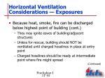 horizontal ventilation considerations exposures3