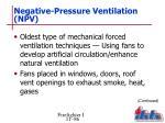 negative pressure ventilation npv
