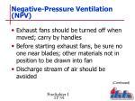 negative pressure ventilation npv5
