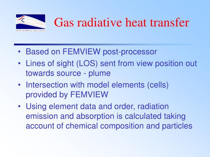 Gas radiative heat transfer