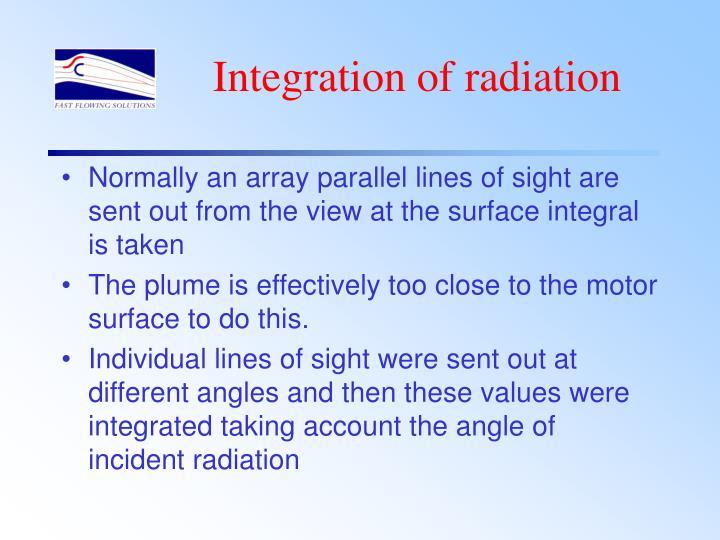 Integration of radiation