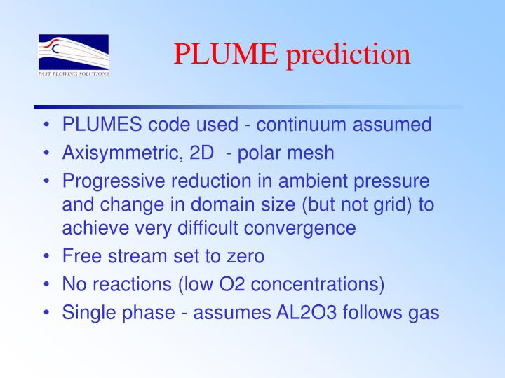 PLUME prediction
