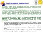 environmental standards 1