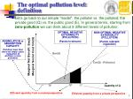 the optimal pollution level definition