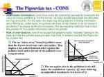 the pigouvian tax cons