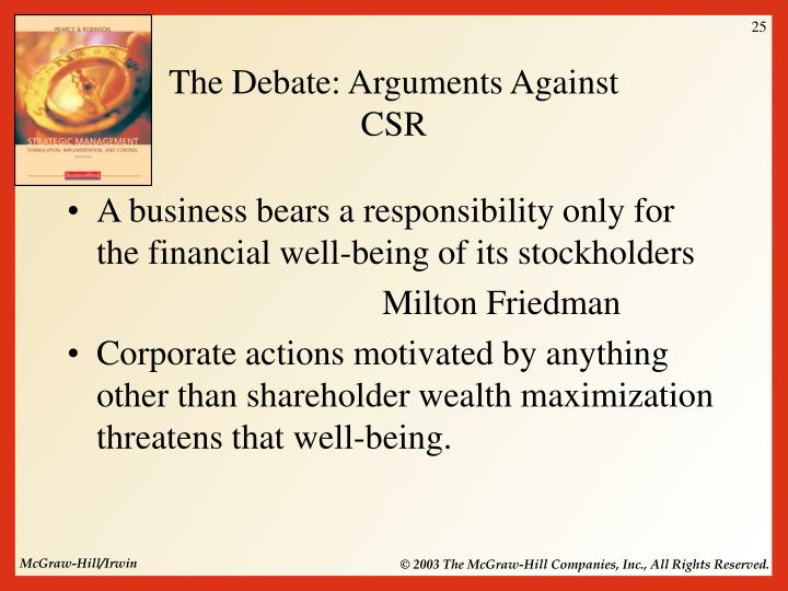 arguments against csr