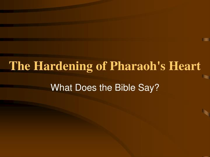 the hardening of pharaohs heart