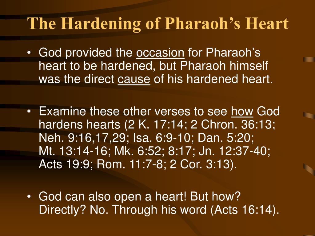 PPT - The Hardening of Pharaoh's Heart PowerPoint