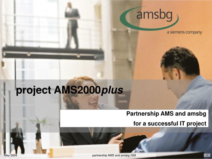 partnership ams and amsbg for a successful it project n.