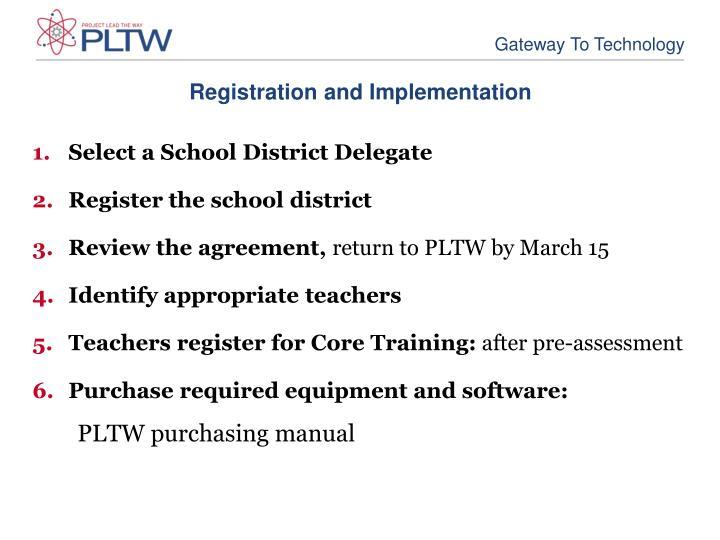 Registration and Implementation