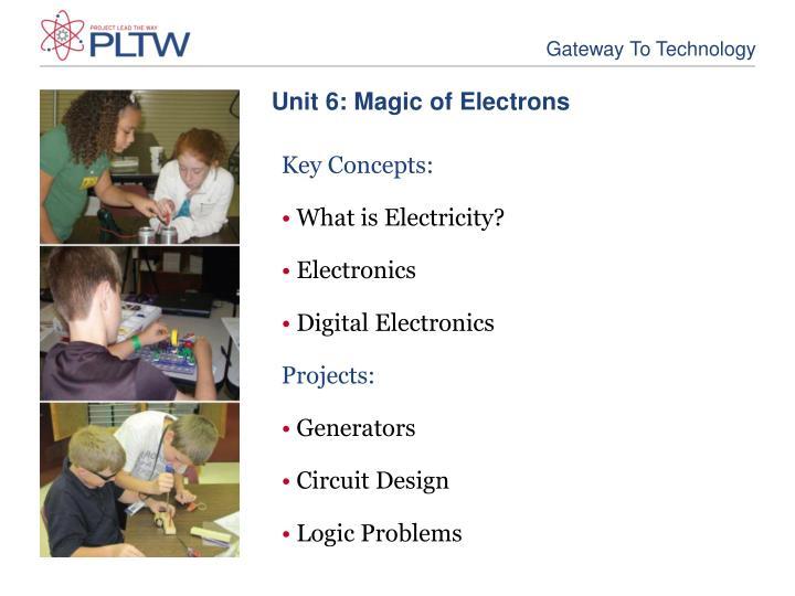 Unit 6: Magic of Electrons