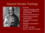 second temple theology