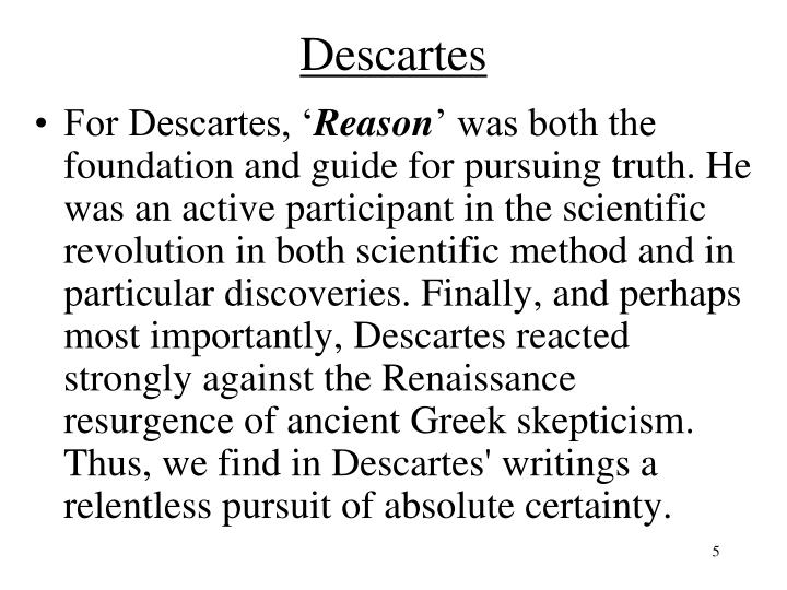 descartes methods of doubt essay The tools you need to write a quality essay or term paper saved essays you have not saved any essays topics in this paper plato  essays related to plato and descartes - methods of philosophy 1 descartes, father of modern philosophy  first there is descartes method of doubt in which he would have you consider the validity of.