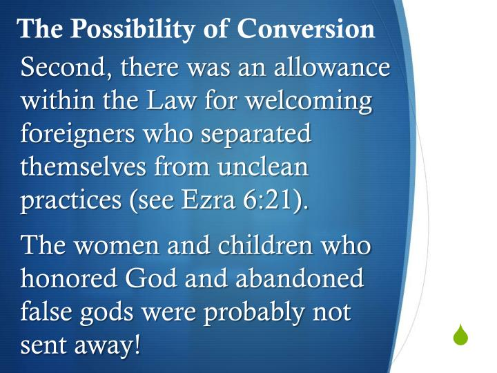 The Possibility of Conversion