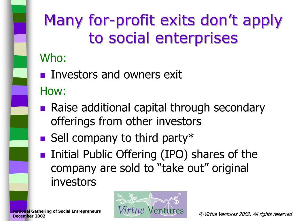 PPT - Social Enterprise Exit Strategies PowerPoint