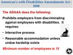 american s with disabilities amendments act 2008