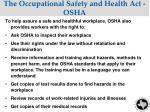 the occupational safety and health act osha1