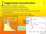 higgs boson reconstruction