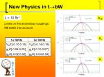 new physics in t bw1