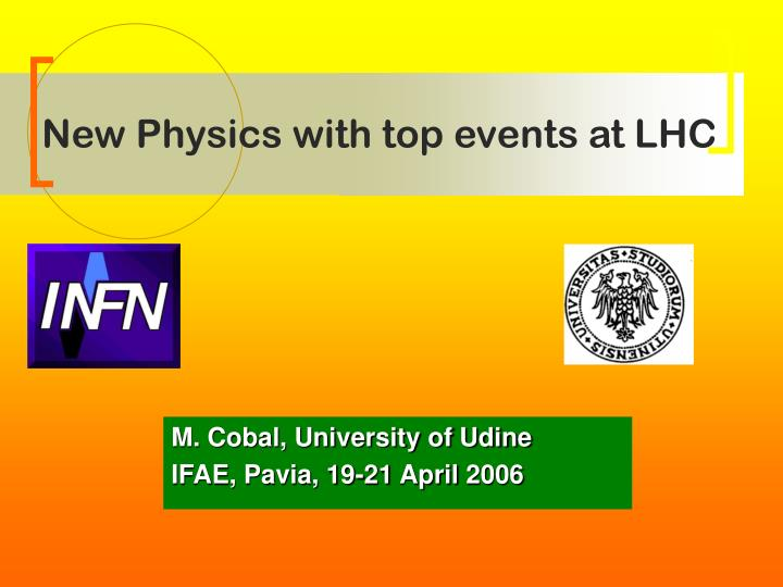 new physics with top events at lhc n.