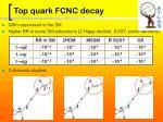top quark fcnc decay
