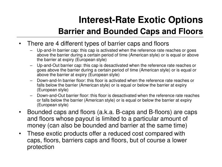 Interest-Rate Exotic Options