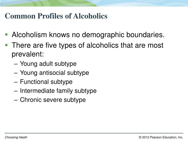Common Profiles of Alcoholics