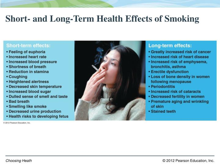 Short- and Long-Term Health Effects of Smoking