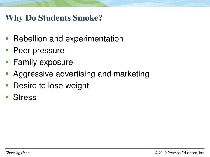 Why Do Students Smoke?