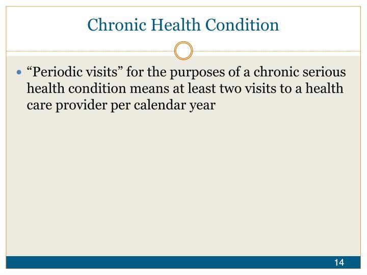 Chronic Health Condition