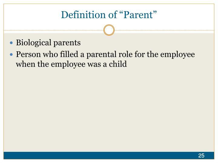 """Definition of """"Parent"""""""