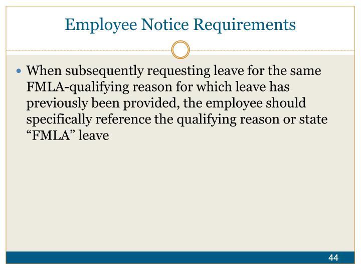 Employee Notice Requirements
