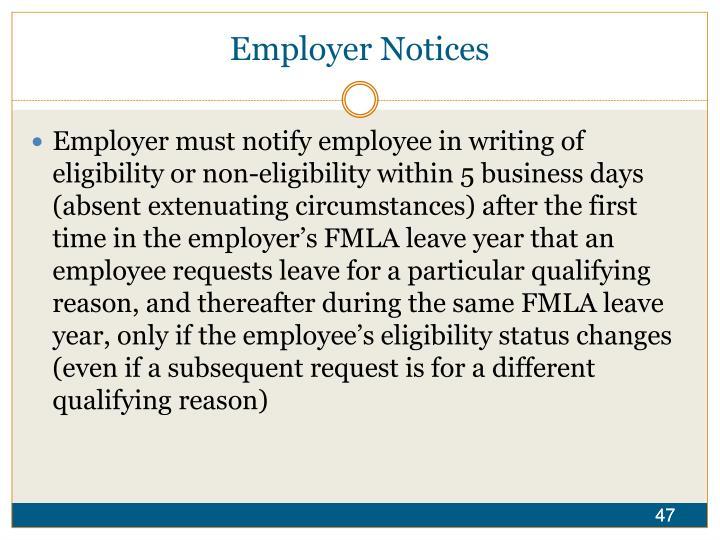Employer Notices